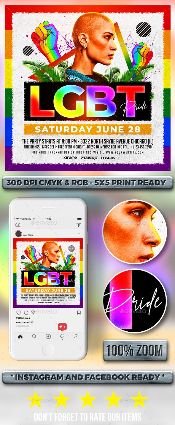 LGBT Flyer - Clubs & Parties Events