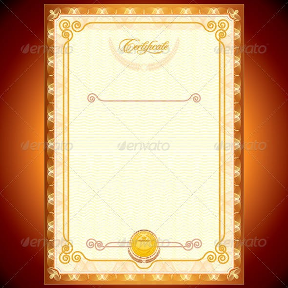 Golden Certificate