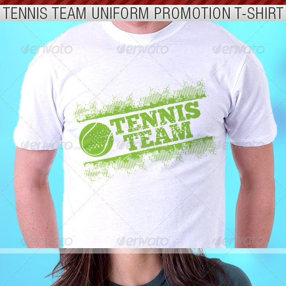 Tennis Team Uniform T-Shirt Template