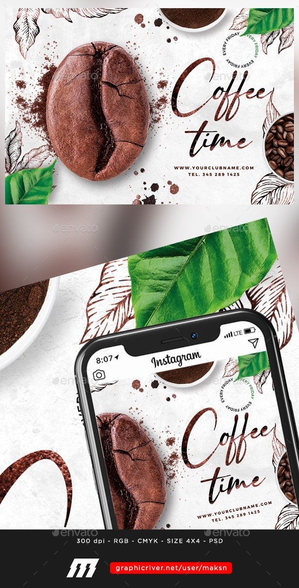 Coffee Time - Restaurant Flyers