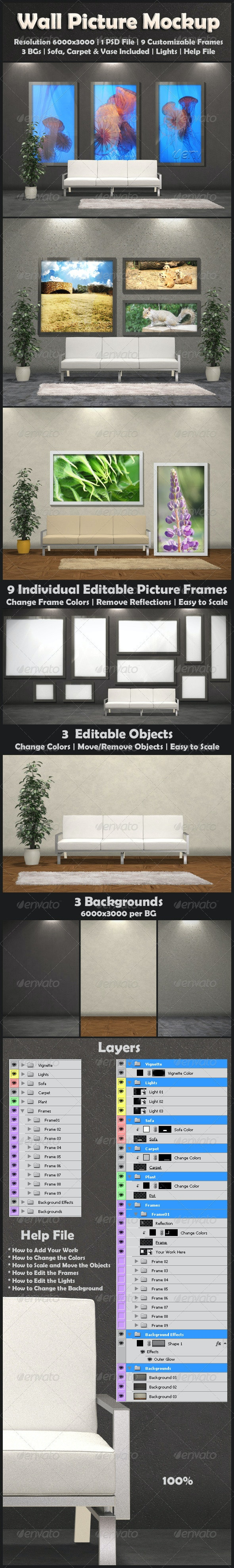Wall Picture Mock-Up - Miscellaneous Displays