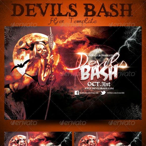 Devils Bash Halloween Flyer Template