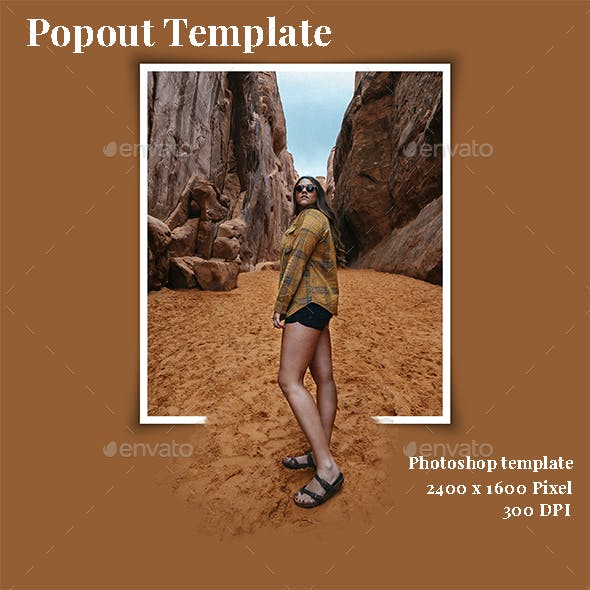 Popout Photo Template V.2
