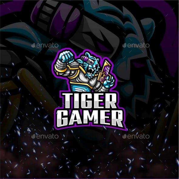 Tiger Gamer E-Sport and Sport Logo Template