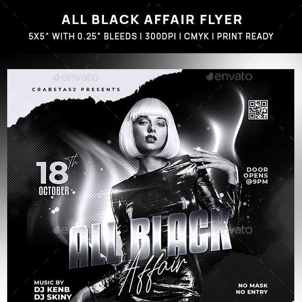 All Black Affair Flyer