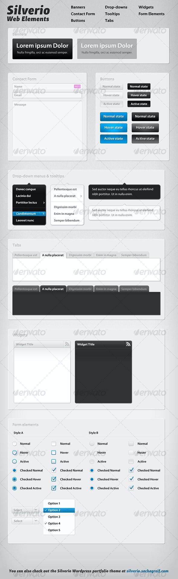 Silverio Web Elements - Web Elements