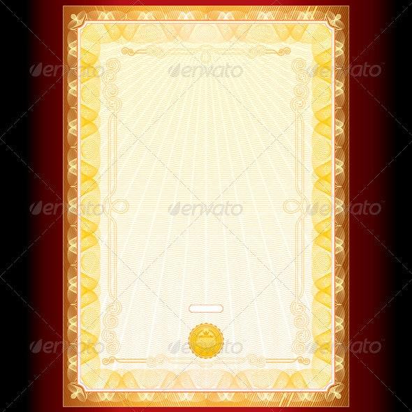 Royal Golden Diploma Background  - Backgrounds Decorative
