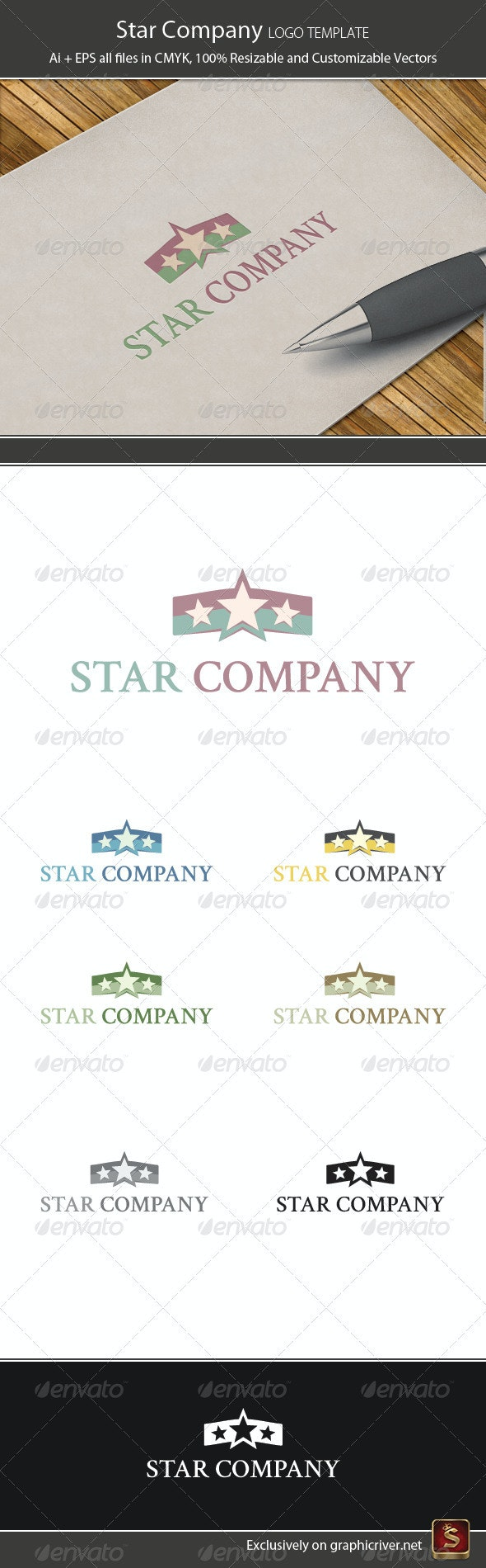 Star Company Logo Template - Vector Abstract