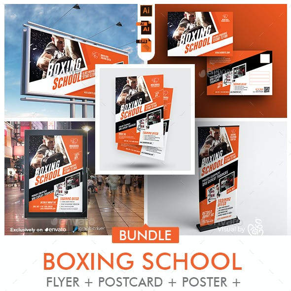 Boxing School Promotional Bundle Print Templates