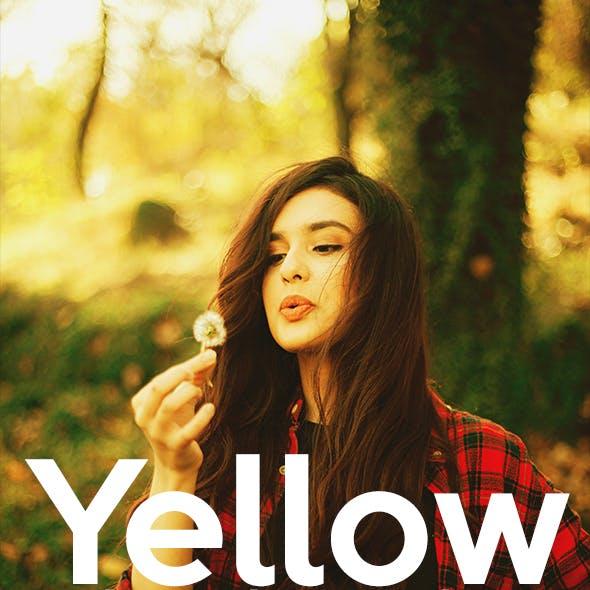 Yellow Actions Photoshop