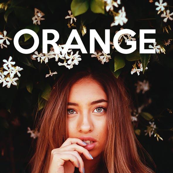 Orange Tones - Photoshop