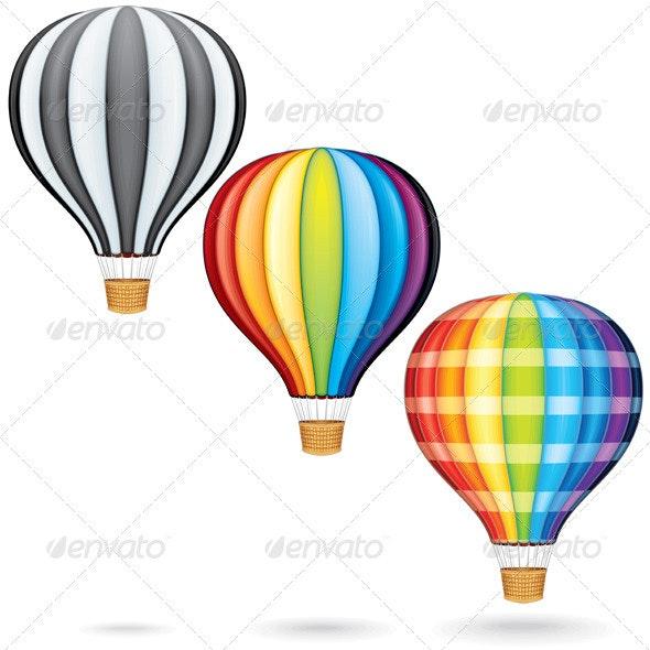 Hot Air Balloons - Travel Conceptual