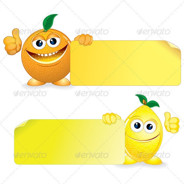 Orange with Lemon - Food Objects