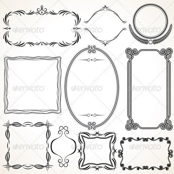 Ornamental Frames - Borders Decorative