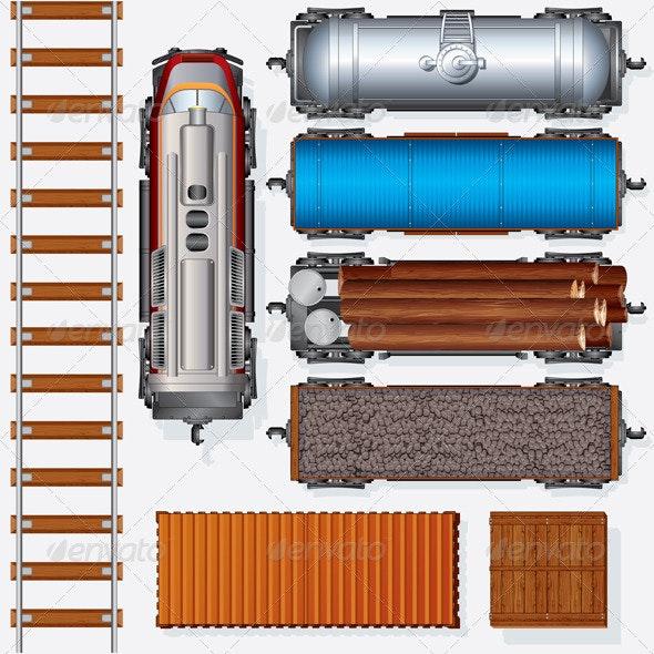 Railroad Cargo Train - Commercial / Shopping Conceptual
