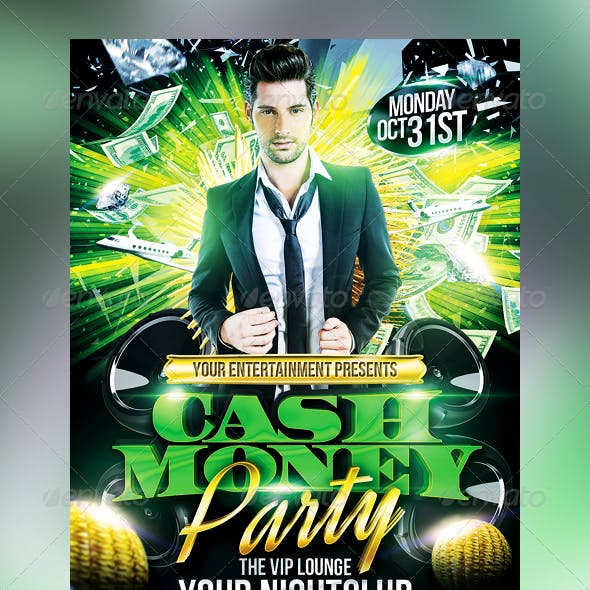 Club Sessions l Cash Money Party Flyer