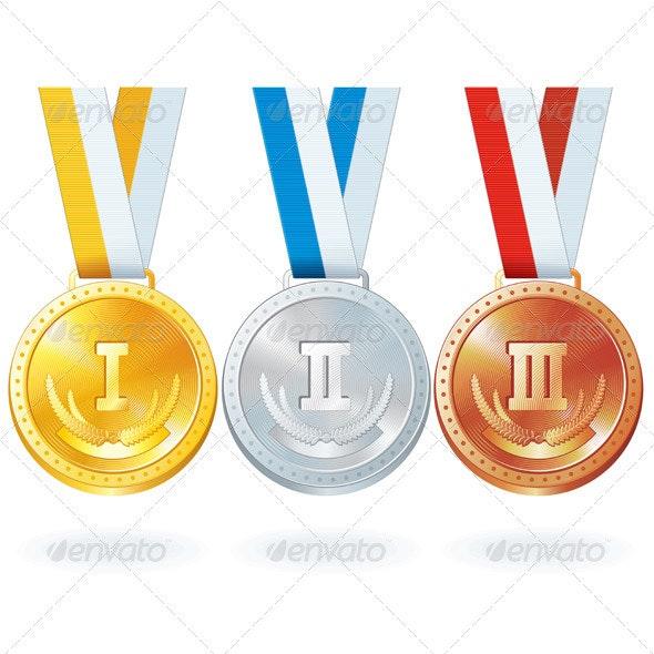 Vector Medals - Sports/Activity Conceptual