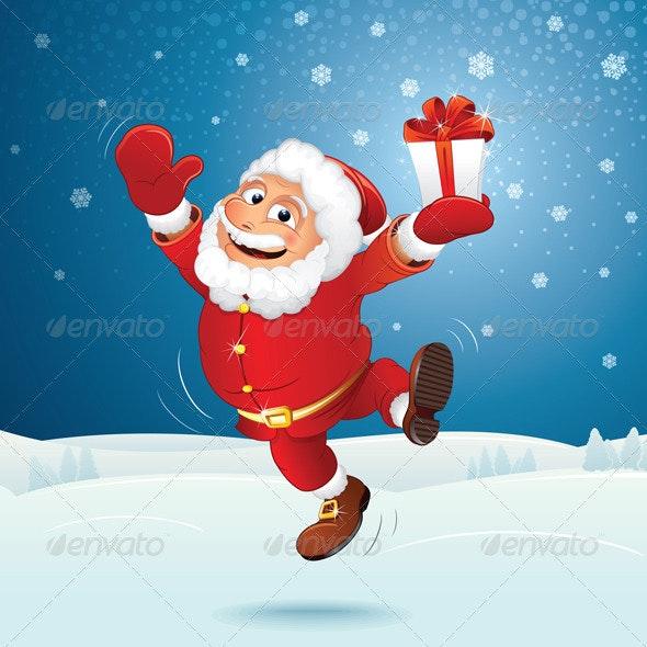 Happy Santa Vector - Christmas Seasons/Holidays