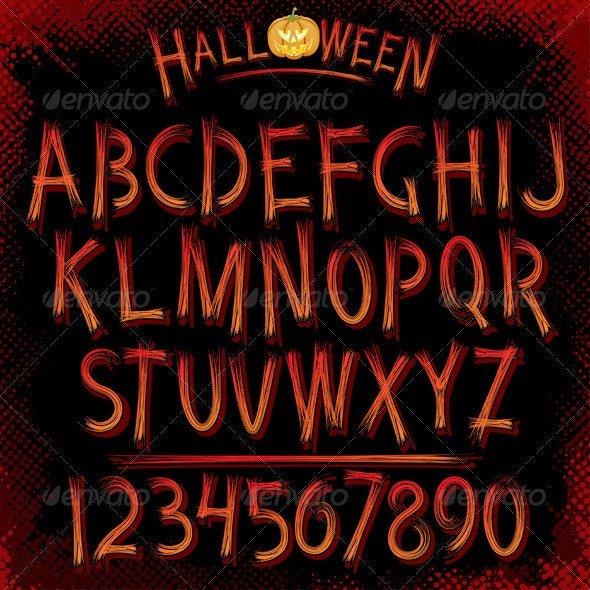 Grunge Vector Font - Halloween Seasons/Holidays
