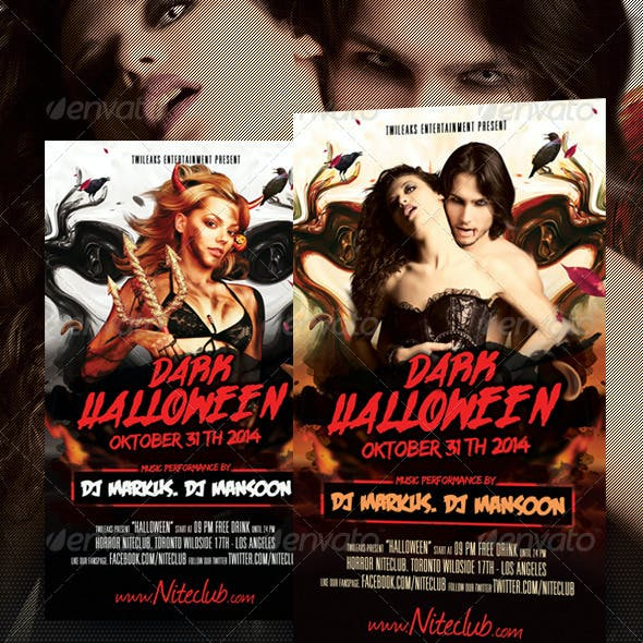 Dark Halloween Flyer Template