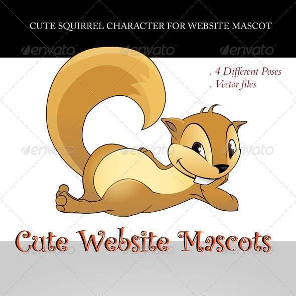 Cute Squirrel Website Mascot