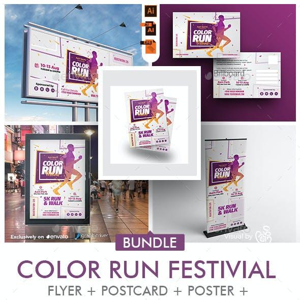 Color Run Event Bundle Print Templates