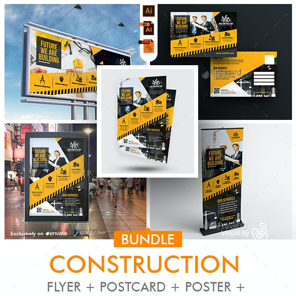 Construction Company Promotional Bundle Print Temlates
