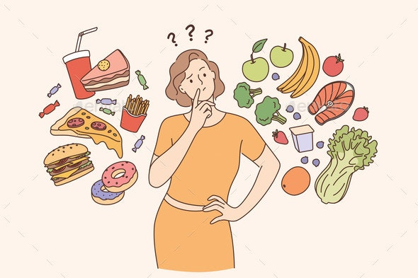 Dieting Healthy Lifestyle Weight Loss Concept - Food Objects