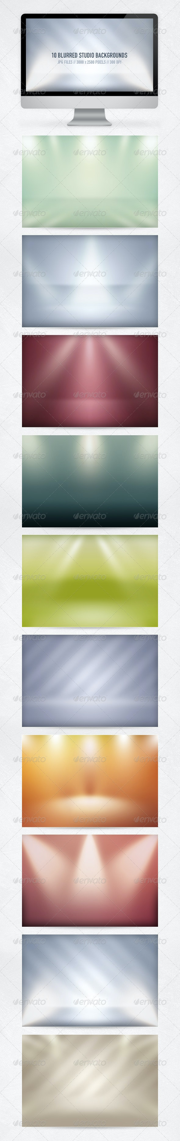 10 Blurred Studio Backgrounds - Abstract Backgrounds