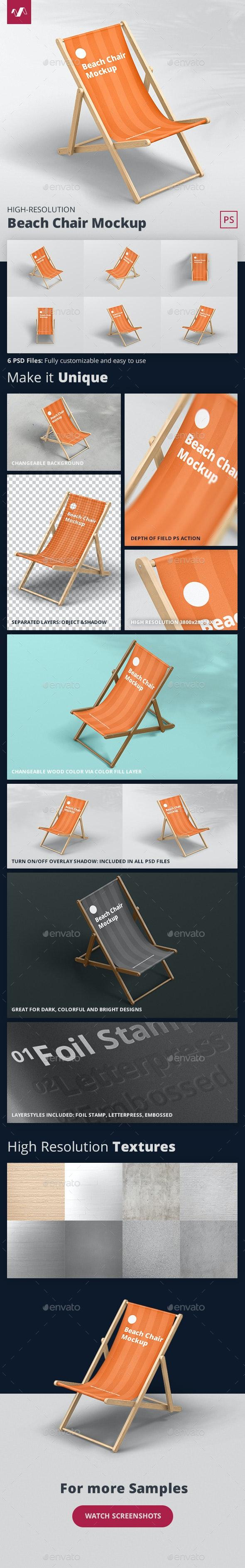 Beach Chair Mockup - Miscellaneous Print