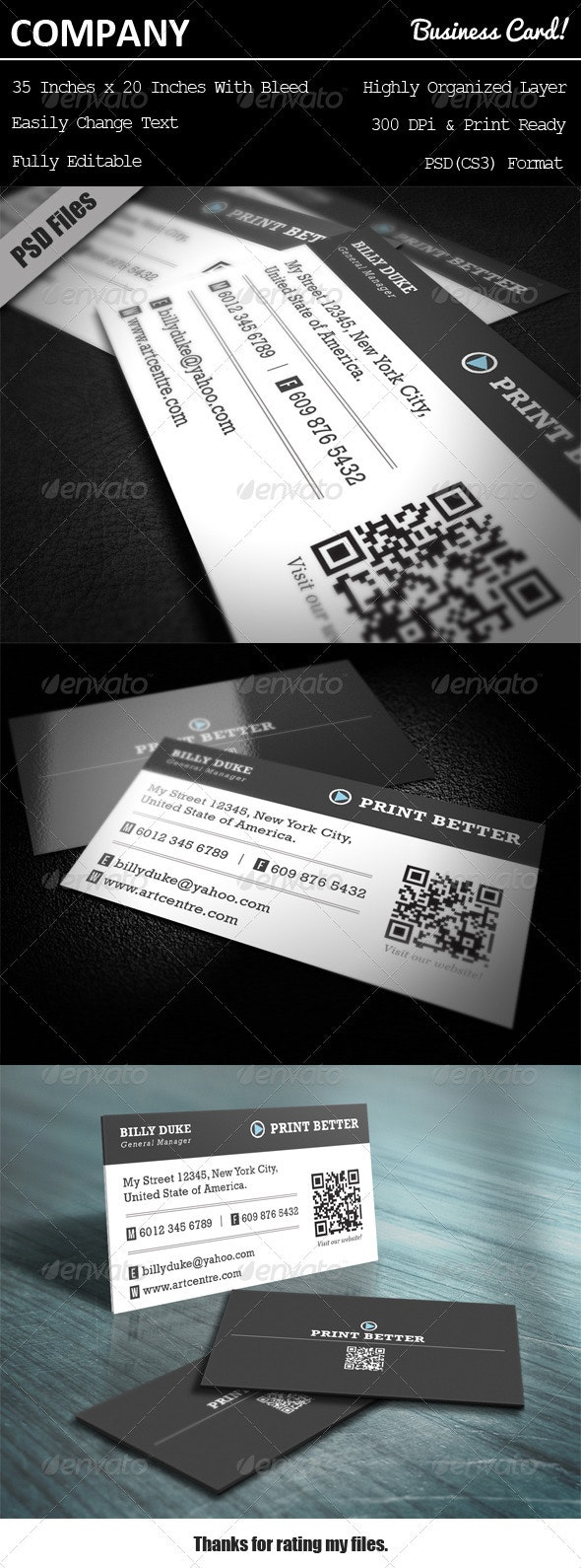 Company Business Card - Corporate Business Cards