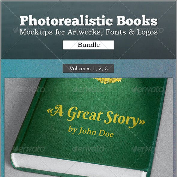 Photorealistic Books Mockups Bundle
