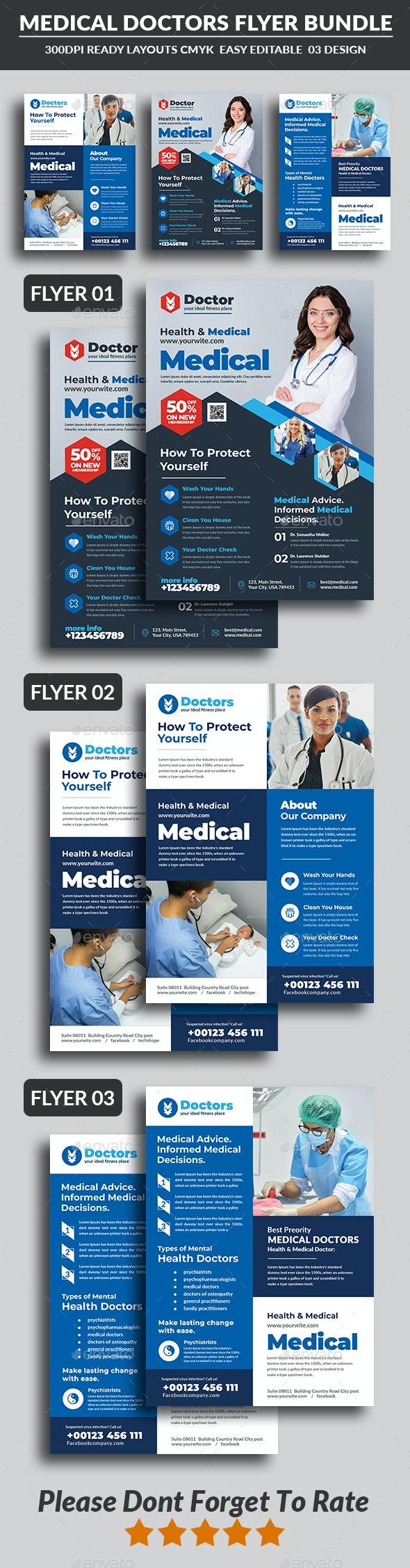 Health & Medical Doctors Flyer Bundle - Corporate Flyers