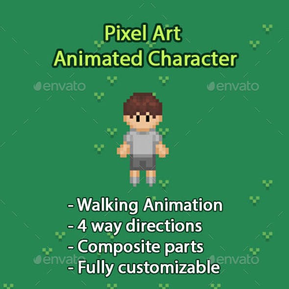 Top Down Pixel Art Character Animation