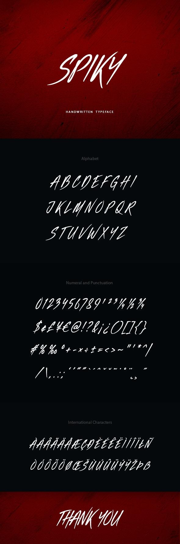 Spiky Handwritten Font - Hand-writing Script