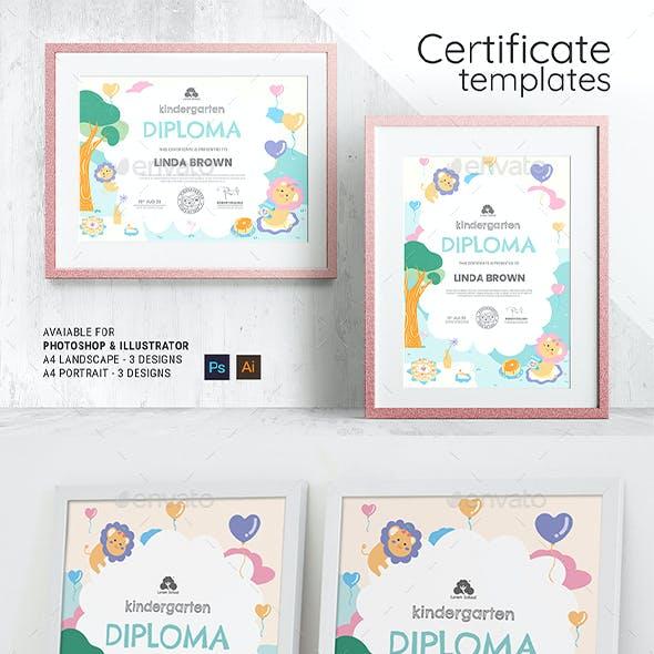 Children's Kindergarten Certificate