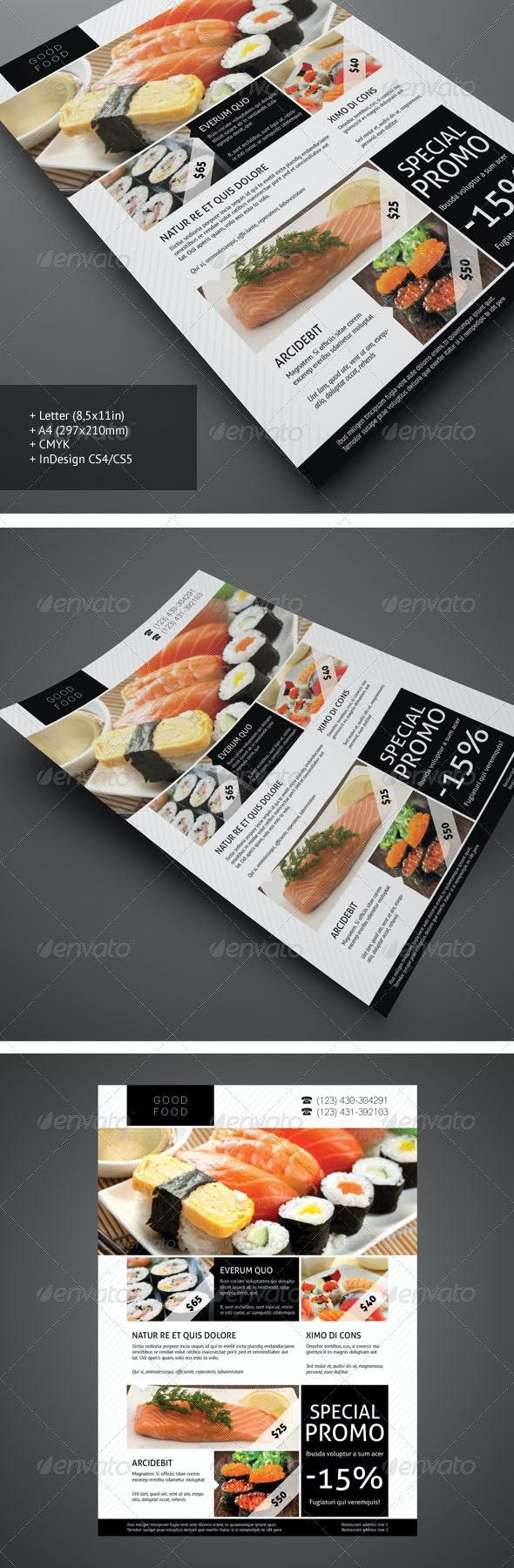 Restaurant Flyer 1 - Restaurant Flyers