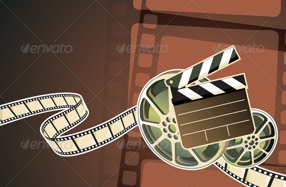 Cinema abstract background  - Decorative Vectors
