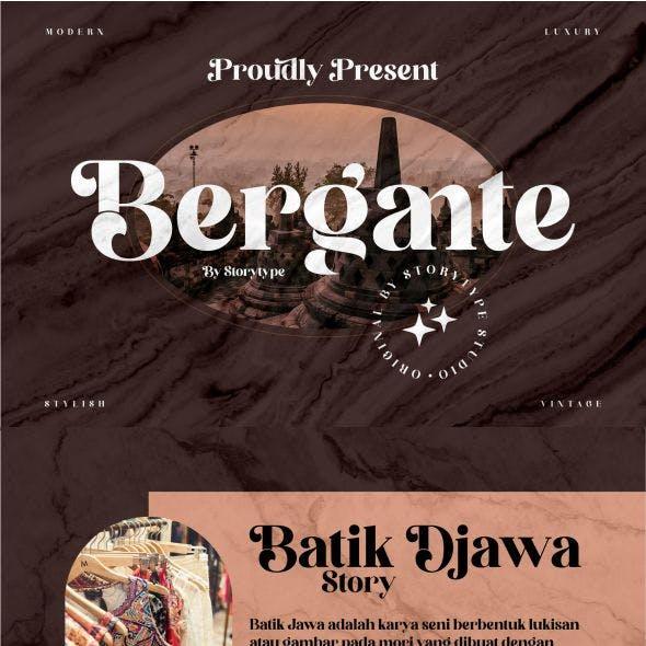 Bergante Typeface