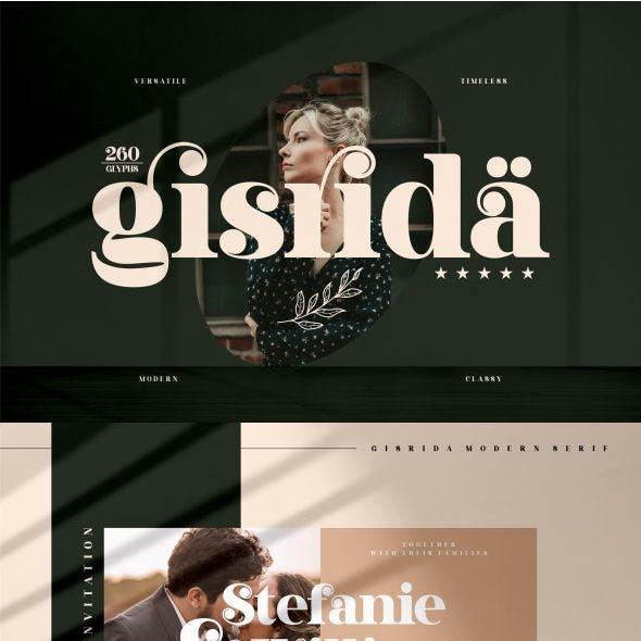 Gisrida Typeface