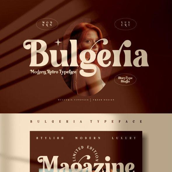 Bulgeria Typeface
