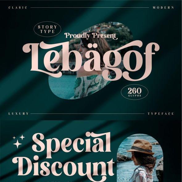 Lebagof Typeface