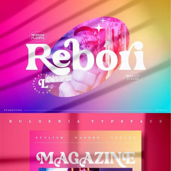 Rebori Typeface