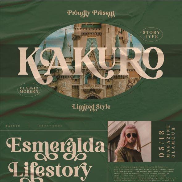 KAKURO Typeface