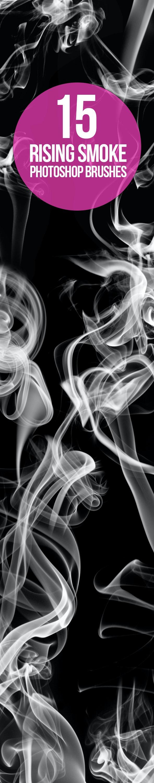 15 Rising Smoke Photoshop Brushes - Brushes Photoshop