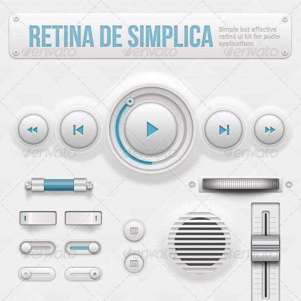 Retina de Simplica - Retina Audio GUI Kit