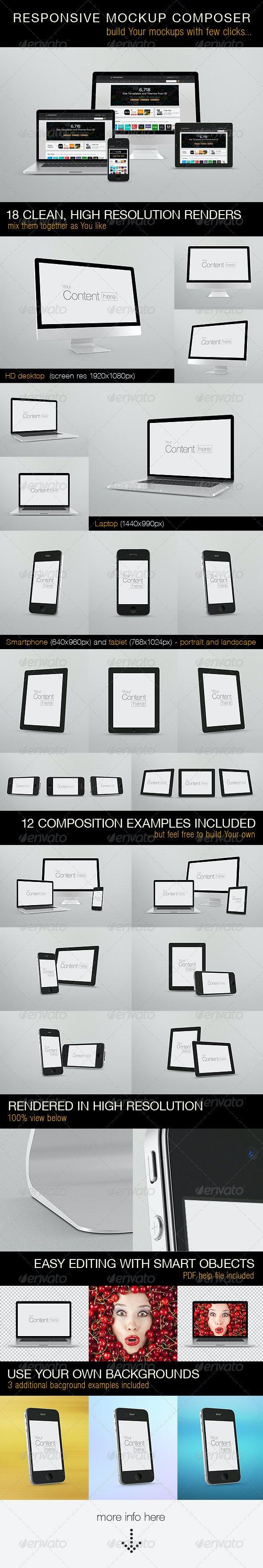 Responsive Mockups Composer - Multiple Displays