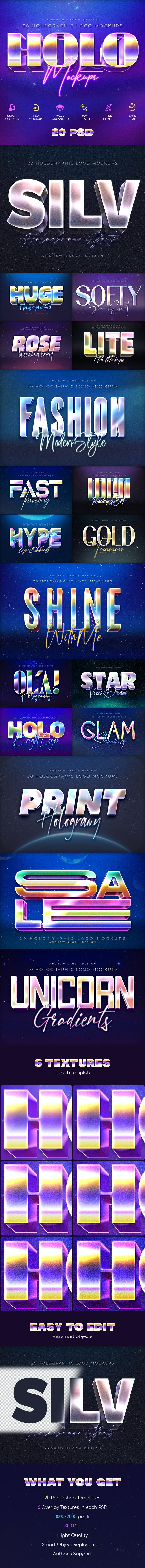 20 Holographic Text Effects - Text Effects Actions