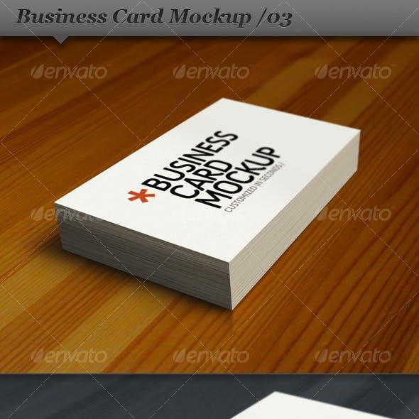 Business card mockup display - Smart template 03