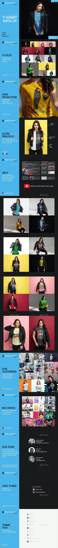 T-Shirt Mock-Up Set - Product Mock-Ups Graphics